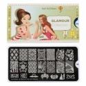 Matrita Metalica Pentru Stampile Unghii Lila Rossa - Glamour Collection 0304