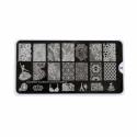 Matrita Metalica Pentru Stampile Unghii Lila Rossa - Glamour Collection 0303