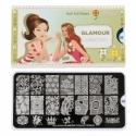 Matrita Metalica Pentru Stampile Unghii Lila Rossa - Glamour Collection 0302