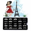 Matrita Metalica Pentru Stampile Unghii Lila Rossa - French Collection 0209