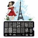 Matrita Metalica Pentru Stampile Unghii Lila Rossa - French Collection 0207