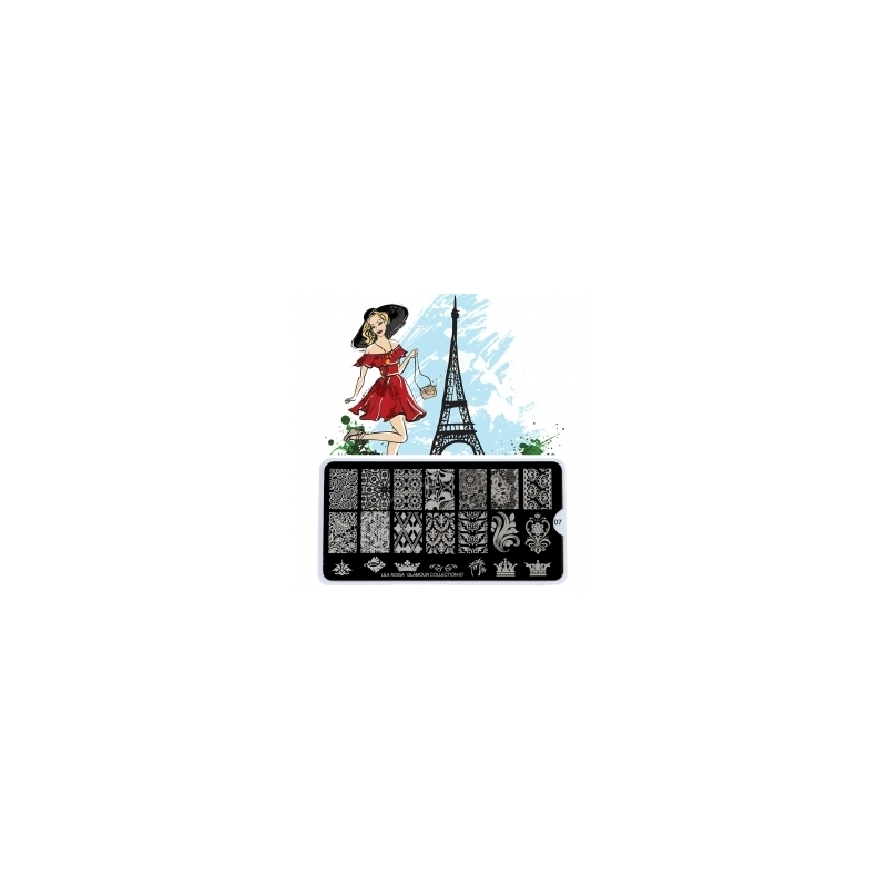 Matrita Metalica Pentru Stampile Unghii Lila Rossa - French Collection 0207