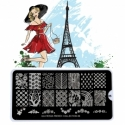 Matrita Metalica Pentru Stampile Unghii Lila Rossa - French Collection 0206