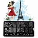 Matrita Metalica Pentru Stampile Unghii Lila Rossa - French Collection 0205