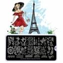 Matrita Metalica Pentru Stampile Unghii Lila Rossa - French Collection 0204