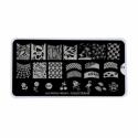 Matrita Metalica Pentru Stampile Unghii Lila Rossa - French Collection 0203