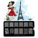 Matrita Metalica Pentru Stampile Unghii Lila Rossa - French Collection 0202