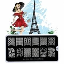 Matrita Metalica Pentru Stampile Unghii Lila Rossa - French Collection 0202