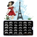 Matrita Metalica Pentru Stampile Unghii Lila Rossa - French Collection 0201