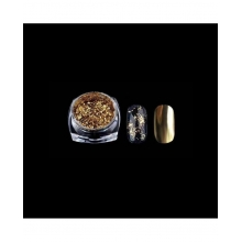 Pudra Unghii cu Efect de Oglinda Platinum G518-gd