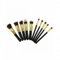 Set 10 Pensule Make-up Nylon Diverse Culori