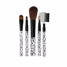Pensule Make-up Din Par Natural Set 5 Bucati Alb