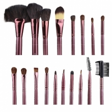Pensule Make-up Din Par Natural Megaga Set 18 Bucati Diverse Culori