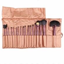 Pensule Make-up Din Par Natural Megaga Set 18 Bucati Diverse Culori