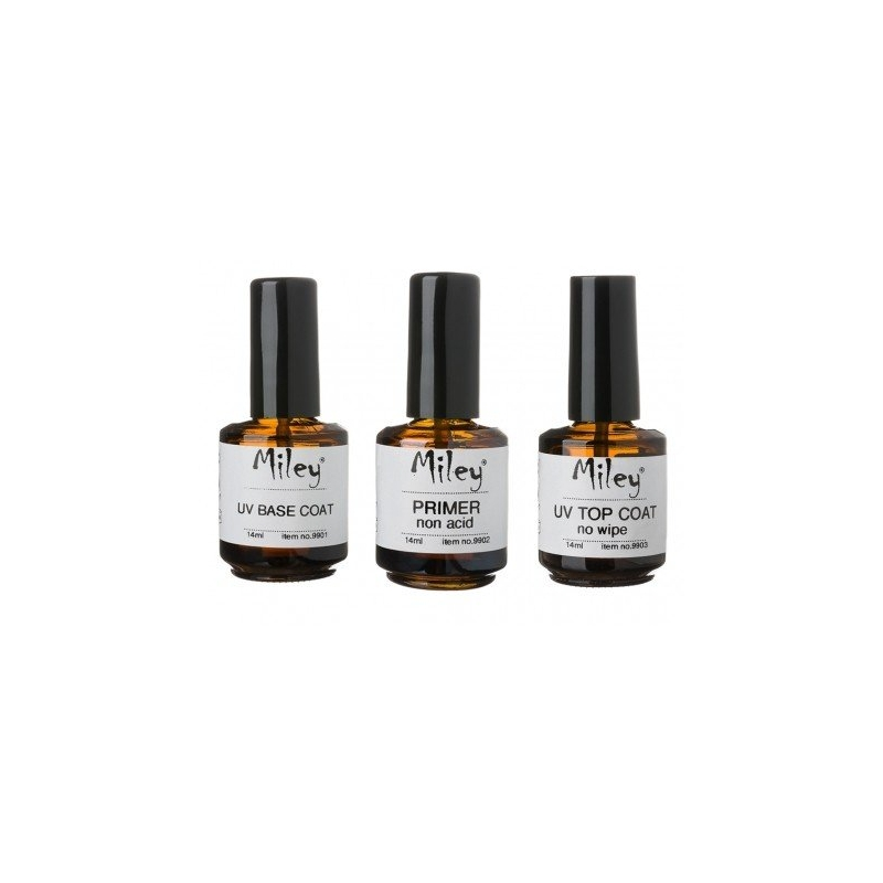 Kit base coat + primer non acid + top coat no wipe Miley