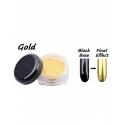 Pigment Unghii cu Efect de Oglinda 12buc Gold G501g