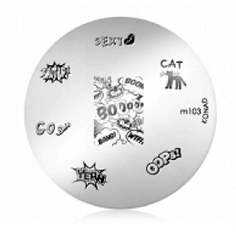 Matrita Metalica Pentru Stampile Unghii Konad M103