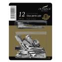 Clips coafor metalice mici set 12