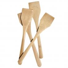 Set 4 spatule patrate din lemn