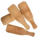 Set 4 lingurite patrate din lemn pentru sarea de baie