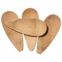 Set 4 lingurite ovale din lemn pentru sarea de baie
