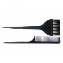 Pensula pentru vopsit parul + pieptene