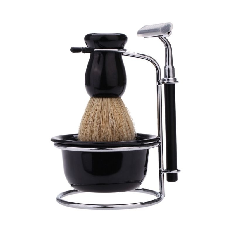 Set pentru barbierit cu aparat de ras pamatuf si bol