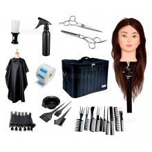 Set frizerie complet cu geanta echipata cap practica natural Daiana