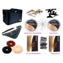 Set kit frizerie coafor complet superb plus cu geanta echipata borseta brau ace agrafe si bureti pentru coc
