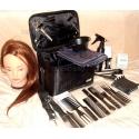 Set frizerie coafor cu geanta echipata Karina cap practica par sintetic