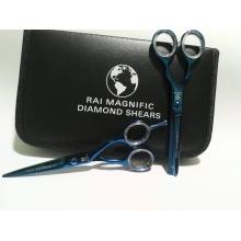 Set Profesional foarfeca tuns+ filat RAI albastre