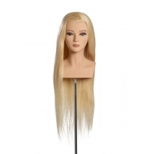 Cap Manechin Par Blond Platinum Natural 100% Tabea OMC, 70 cm, L'Image Germania