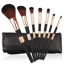 Pensule Make Up Set 7 Maner Gold + Negru Mat PMU07-GL