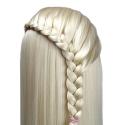 Cap Manechin Coafor X27 - Par Blond 50% Natural, 50-55 cm + Suport Prindere