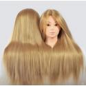 Cap Manechin Coafor - Par Blond Auriu 50 cm, H1-5B + Suport Prindere