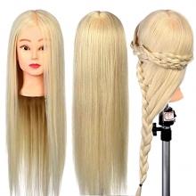 Cap Manechin Coafor Par Blond 50% Natural - Lungime 75cm