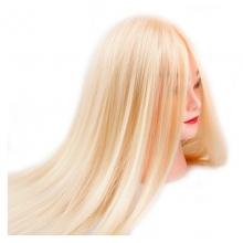 Cap Manechin Coafor Par Blond Caramel 50% Natural 4AB - 80 cm + Suport Prindere