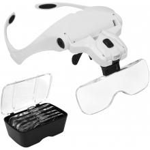 Ochelari de Marire cu 5 Tipuri de Lupe cu Led Model 9892B2