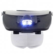 Casca Cozoroc cu Lupa si Lanterna - Light Head Magnifying Glass