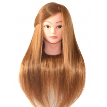 Cap Practica Par Blond Natural 100% - Calitate Superioara B508, 55-60 cm + Suport Prindere