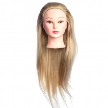 Cap Manechin cu Par Blond 50 cm, H1-5A + Suport Prindere