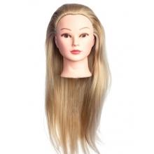 Cap Manechin Coafor - Par Blond 50 cm, H1-5A + Suport Prindere