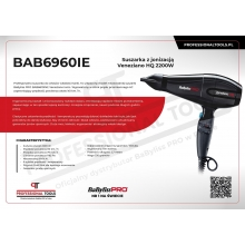 Uscator de Par Babyliss Pro Veneziano HQ 2200W Made in Italy
