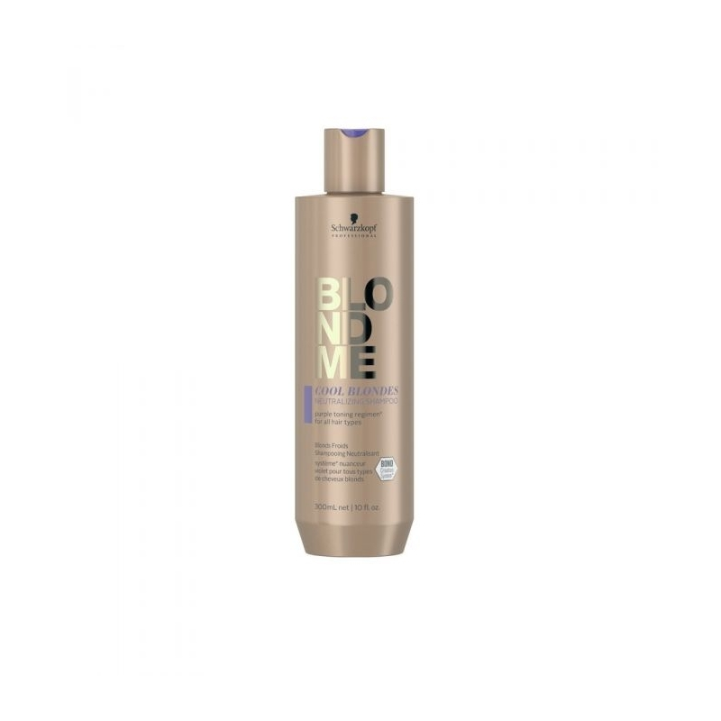 Sampon Neutralizator pentru Par Blond cu Reflexe Reci Schwarzkopf Professional, BlondMe - Cool Blondes, 300 ml