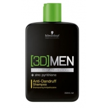 Sampon de Par Anti-Matreata Schwarzkopf Professional, 3D Men, 250 ml