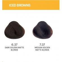 Vopsea de Par Iced Browns Yellow Permanenta cu Amoniac 100ml