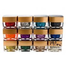 Gel UV Color cu Sclipici - Set 12 Bucati