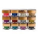 Gel UV Color Sclipici - Set 12 Bucati