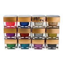 Gel UV Color Sclipici - Set 12 Bucati