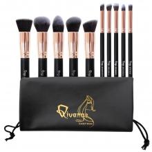 Set Profesional Makeup Be Perfect, 10 Pensule M, nylon, cu Husa